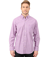 IZOD - Long Sleeve Windowpane Button Up Shirt