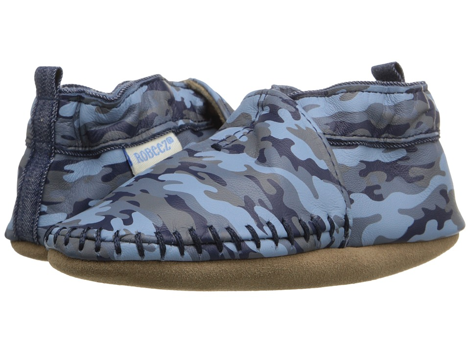 Robeez - Premium Leather Classic Moccasin Soft Sole (Infant/Toddler) (Camo Print) Boys Shoes