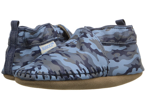 Robeez Premium Leather Classic Moccasin Soft Sole (Infant/Toddler) - Camo Print