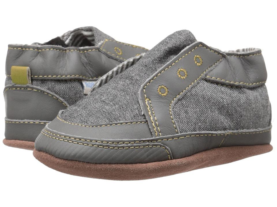 Robeez Stylish Steve Soft Sole (Infant/Toddler) (Stone) Boys Shoes