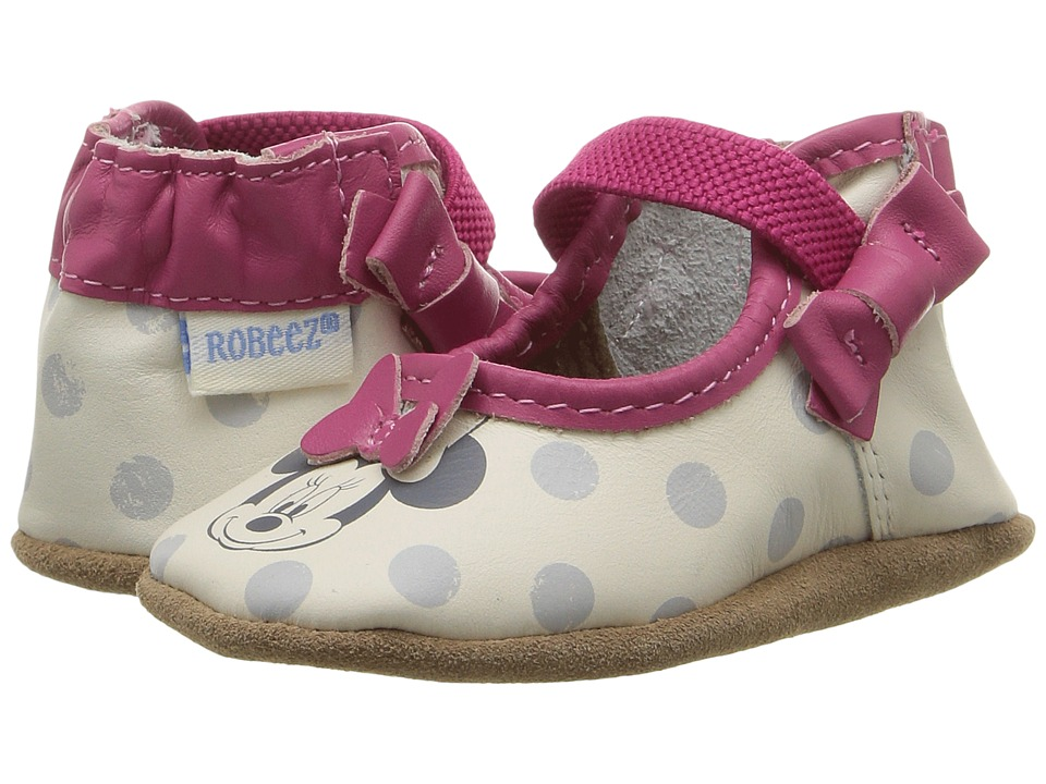 Robeez Disney Baby by Robeez Hey Minnie Mary Jane Soft Sole (Infant/Toddler) (Hot Pink) Girls Shoes