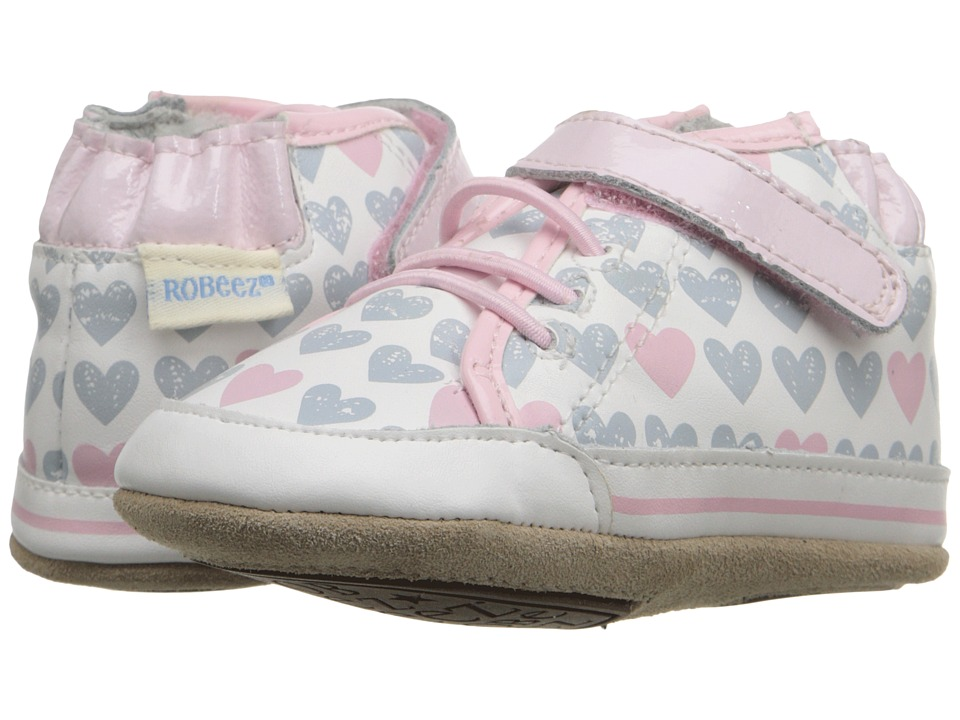 Robeez Cali High Top Mini Shoez (Infant/Toddler) (Pastel Pink) Girls Shoes