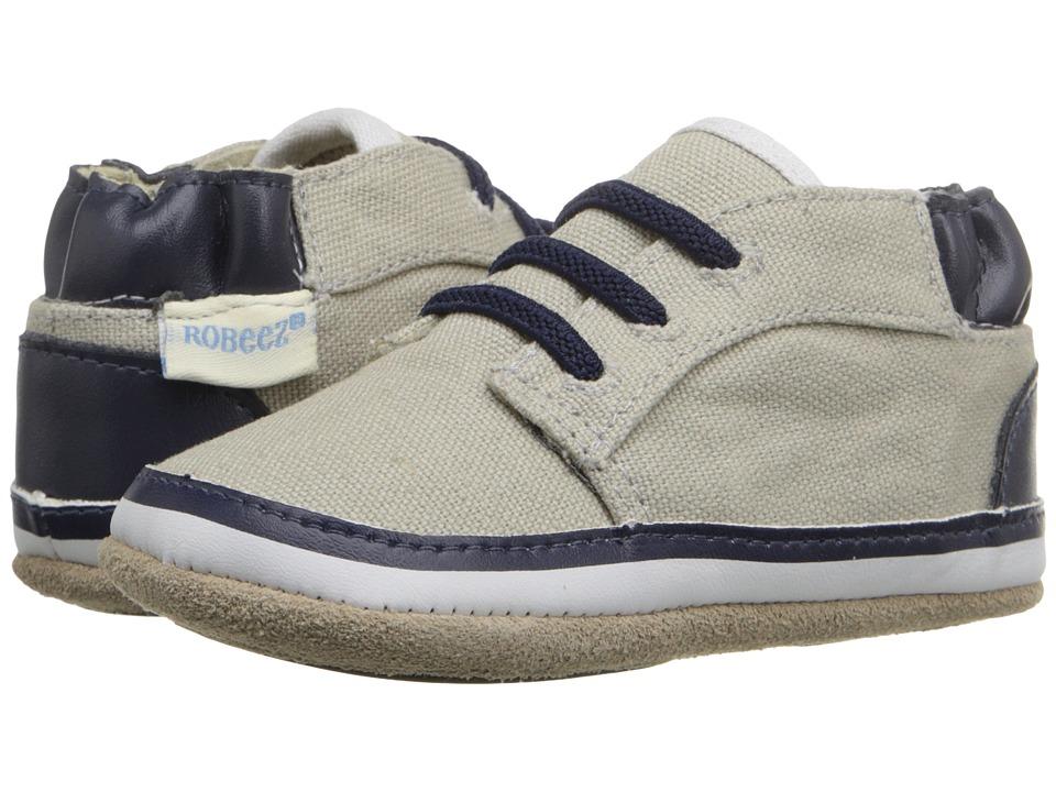 Robeez Tyler Low Top Mini Shoez (Infant/Toddler) (Cool Grey) Boys Shoes
