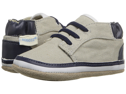 Robeez Tyler Low Top Mini Shoez (Infant/Toddler) - Cool Grey