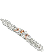 GUESS - Center Clustered Stone on Wide Chain Bracelet