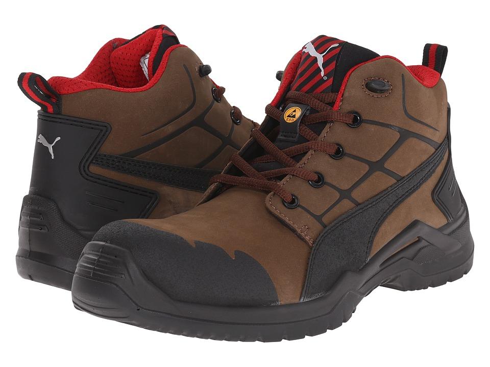 PUMA Safety Krypton Mid Brown Mens Work Boots