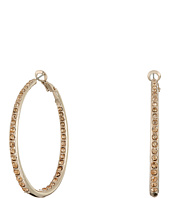 GUESS - Inside Out Stone Hoop Earrings