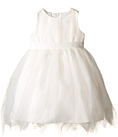 Us Angels - Dot Netting Sleeveless Dress w/ Tiered Hanky Hem Skirt (Infant)