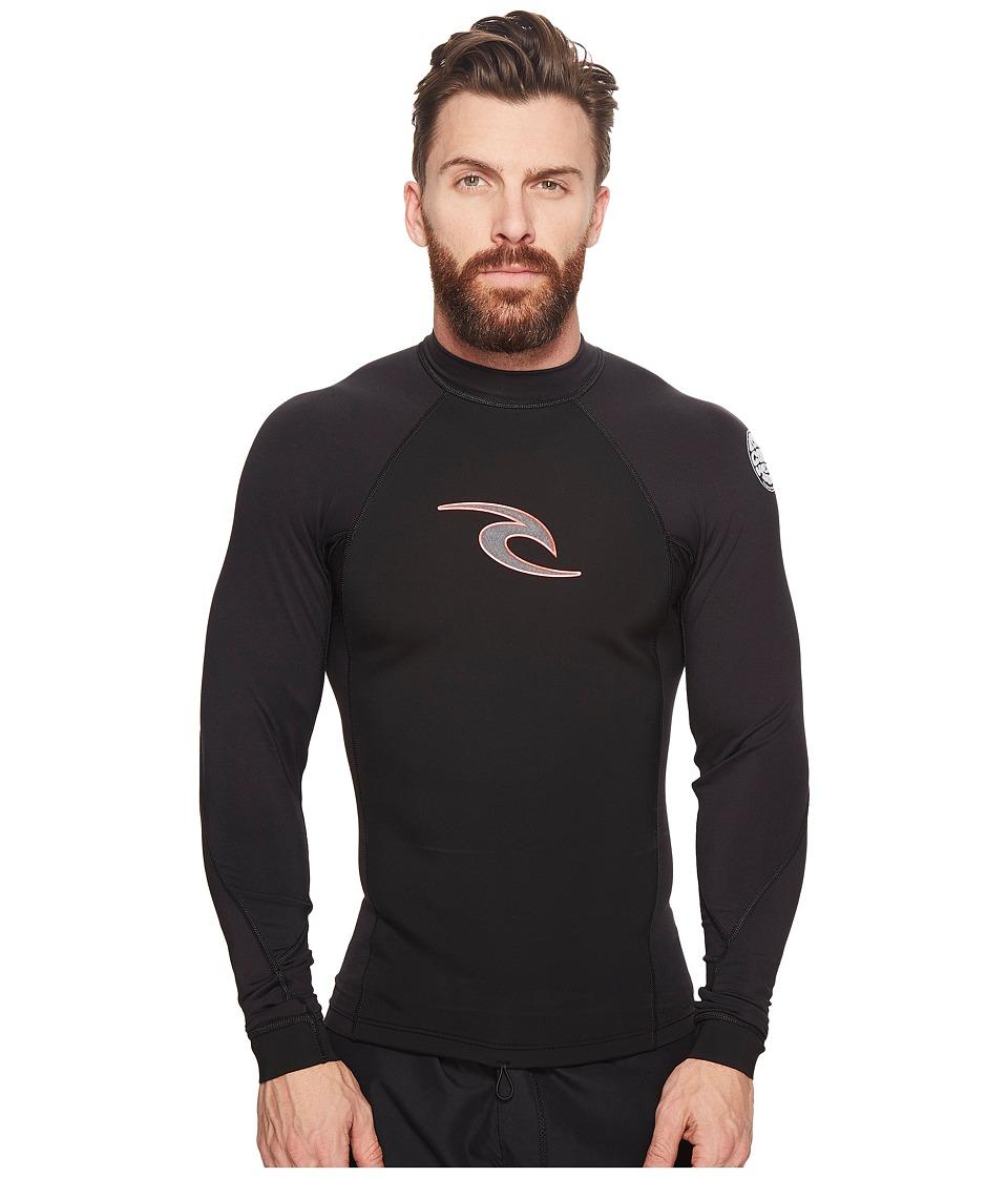 Rip Curl Flashbomb Hybrid Long Sleeve Jacket (Black) Men