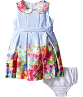 Us Angels - Satin Sleeveless Dress w/ Photo Reel Printed Border (Infant)