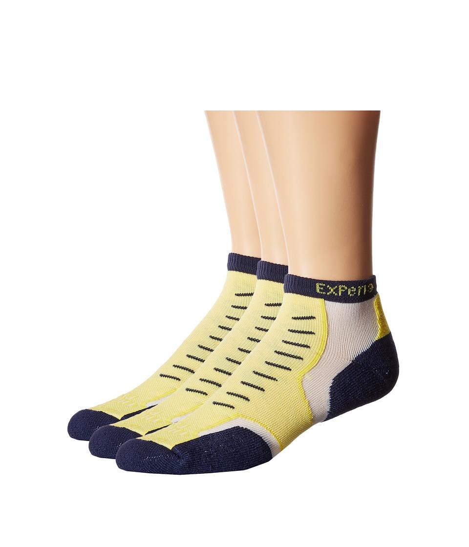 Thorlos Experia Nantucket Micro Mini 3 Pair Pack Main Street Yellow Crew Cut Socks Shoes