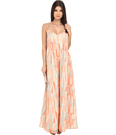 Jack by BB Dakota - Hildy Whimsical Waterfall Printed Crinkle Chiffon Maxi Dress