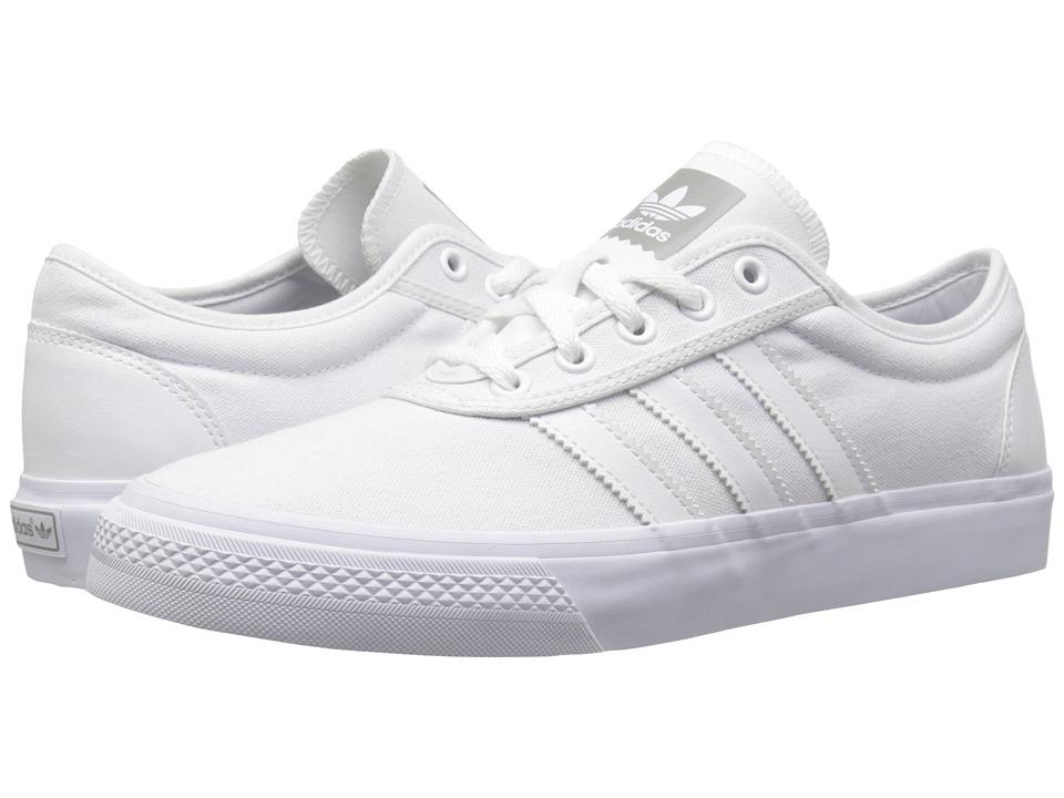 adidas Skateboarding Adi Ease White/White/White Mens Skate Shoes