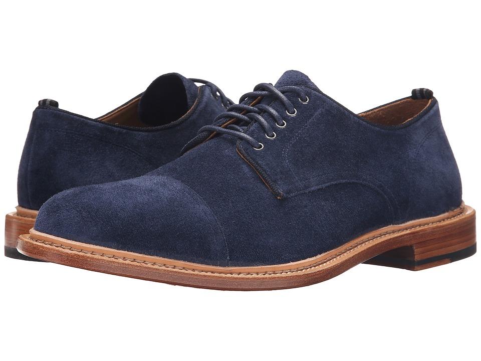 Cole Haan - Willet Cap Oxford Blazer Blue Suede Mens Lace up casual Shoes $270.00 AT vintagedancer.com