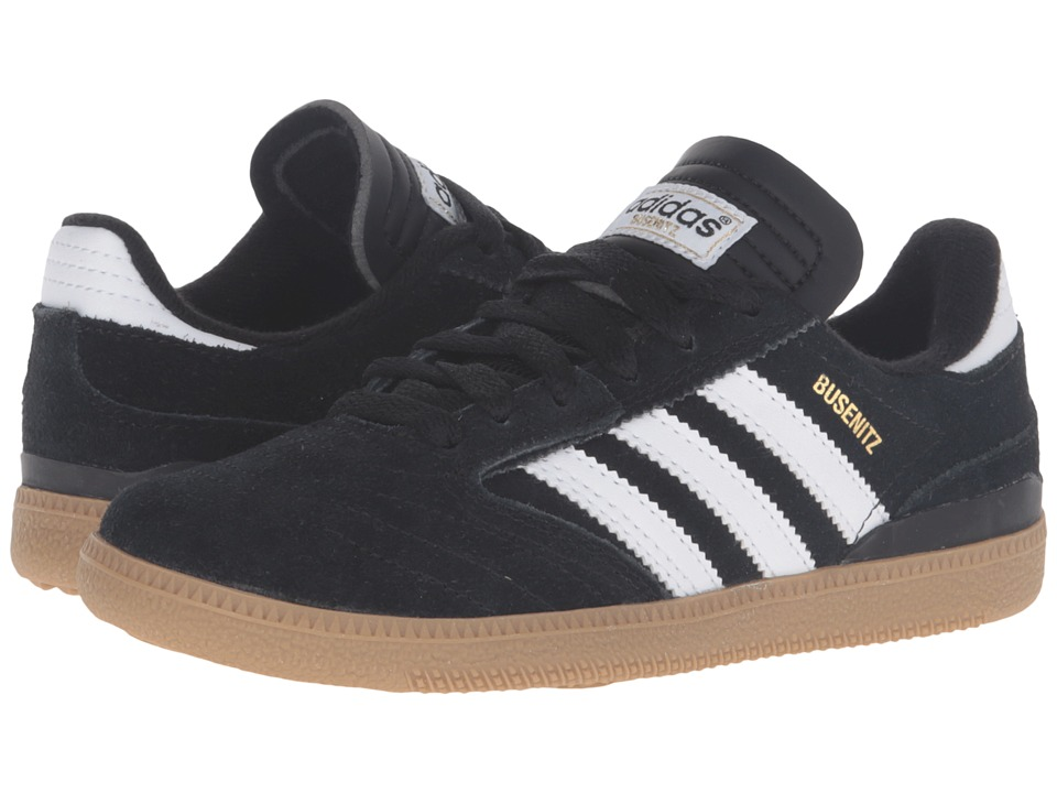 adidas Skateboarding - Busenitz Pro J (Little Kid/Big Kid) (Black/White/Gold Metallic) Skate Shoes