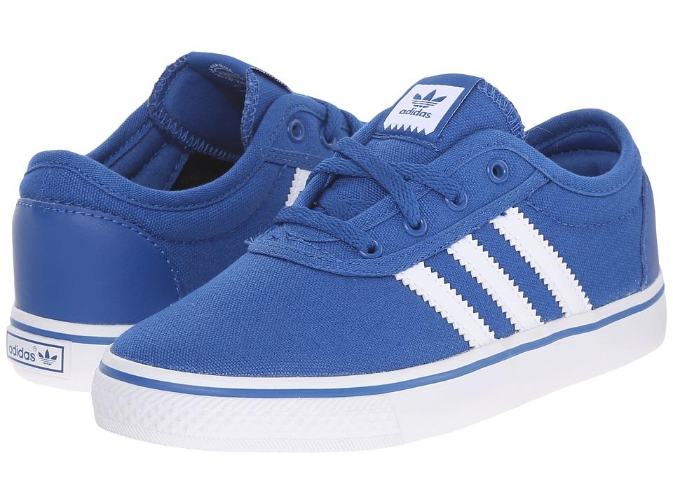 adidas Skateboarding Adi Ease J Little Kid/Big Kid EQT Blue Melange/White/Gum4 Skate Shoes