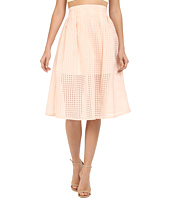 Jack by BB Dakota - Clarice Gingham Organza Pleated Midi Skirt