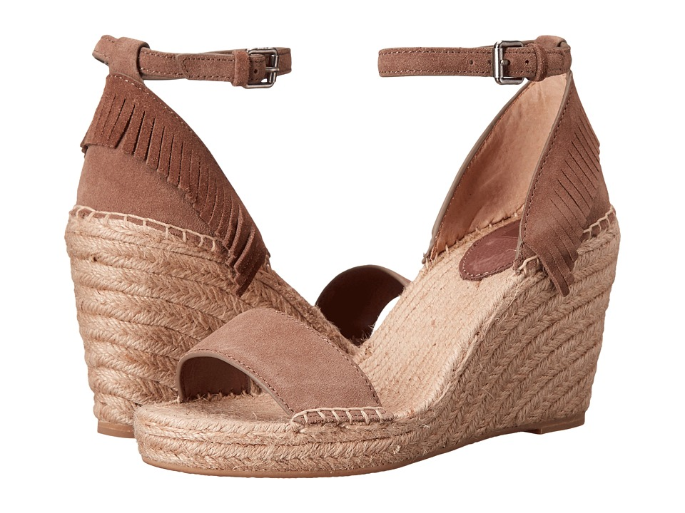 Frye Lila Feather Wedge Grey Oiled Suede Womens Wedge Shoes