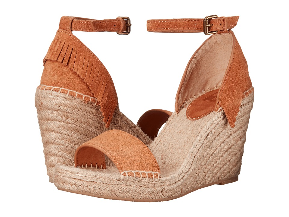 Frye Lila Feather Wedge Sand Oiled Suede Womens Wedge Shoes