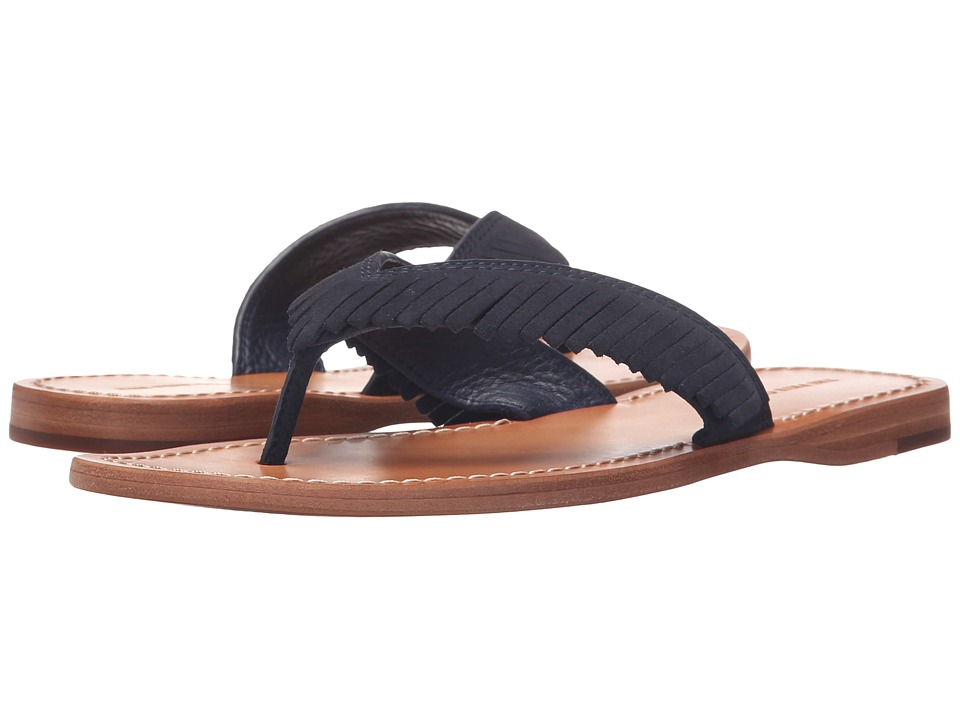 Frye - Perry Feathered Thong (Navy Oiled Suede) Women