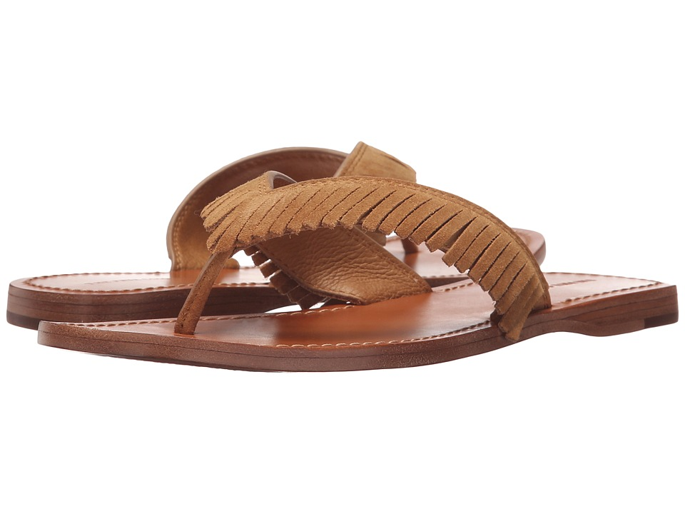 Frye - Perry Feathered Thong (Sand Oiled Suede) Women