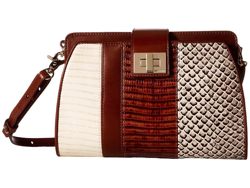 Brahmin Alena Brown Cross Body Handbags