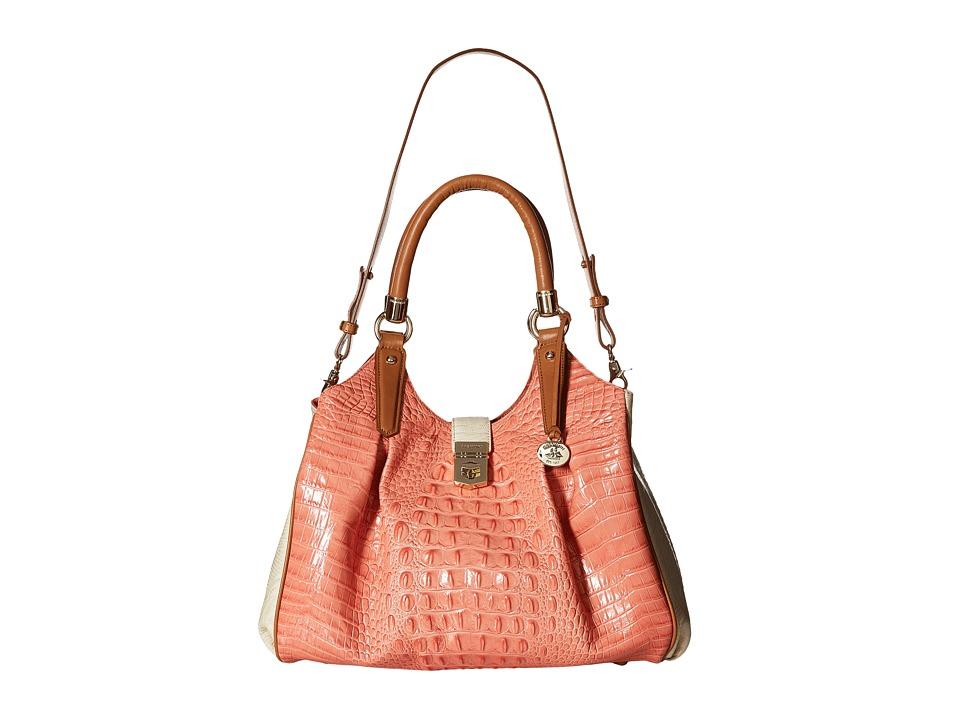 Brahmin Elisa Creamsicle Satchel Handbags
