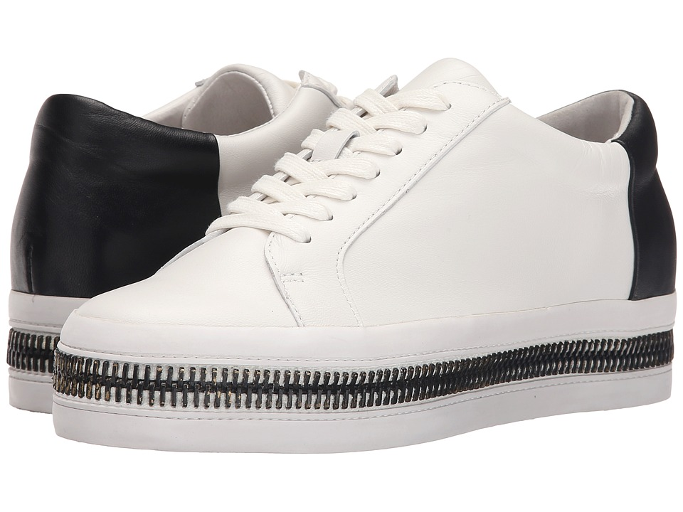 Rachel Zoe Collette White/Black Nappa/Nappa Womens Lace up casual Shoes