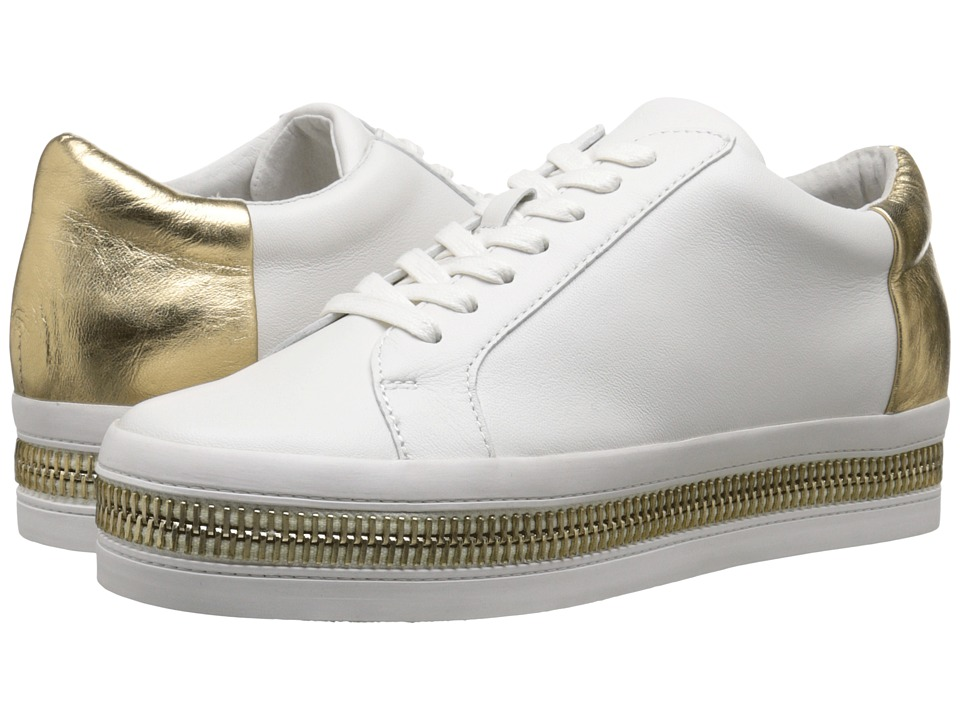 Rachel Zoe Collette White/Gold Nappa/Metallic Womens Lace up casual Shoes
