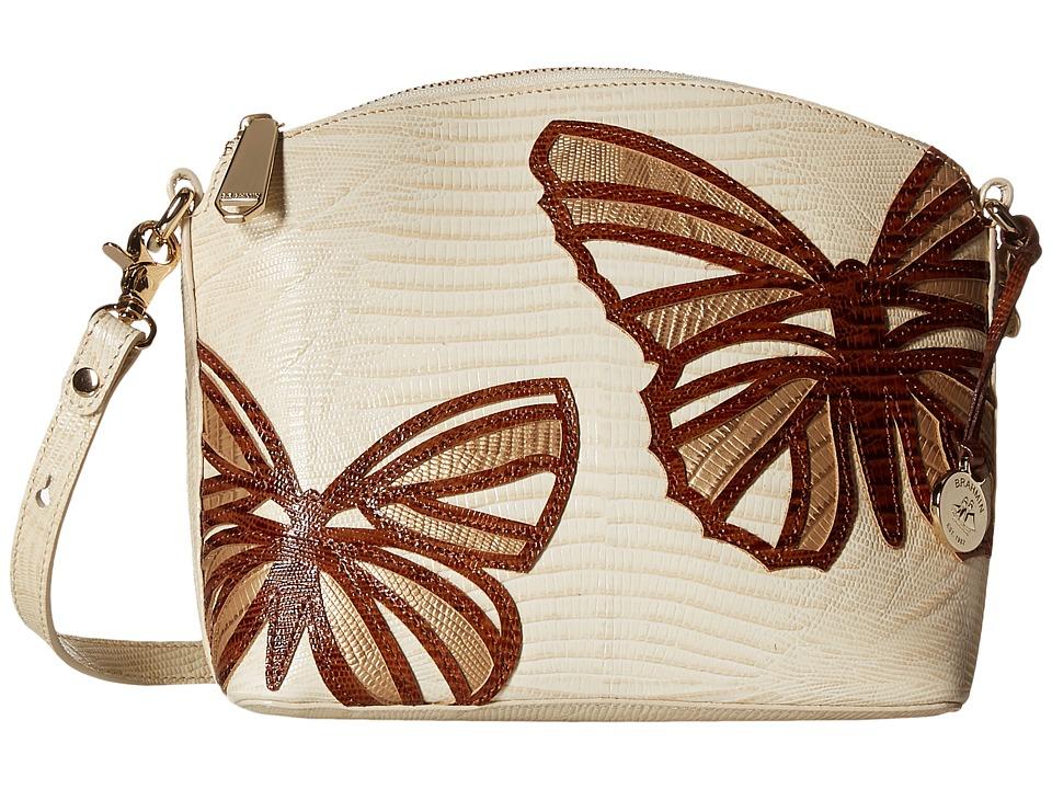 Brahmin Mini Duxbury Vanilla Cream Cross Body Handbags