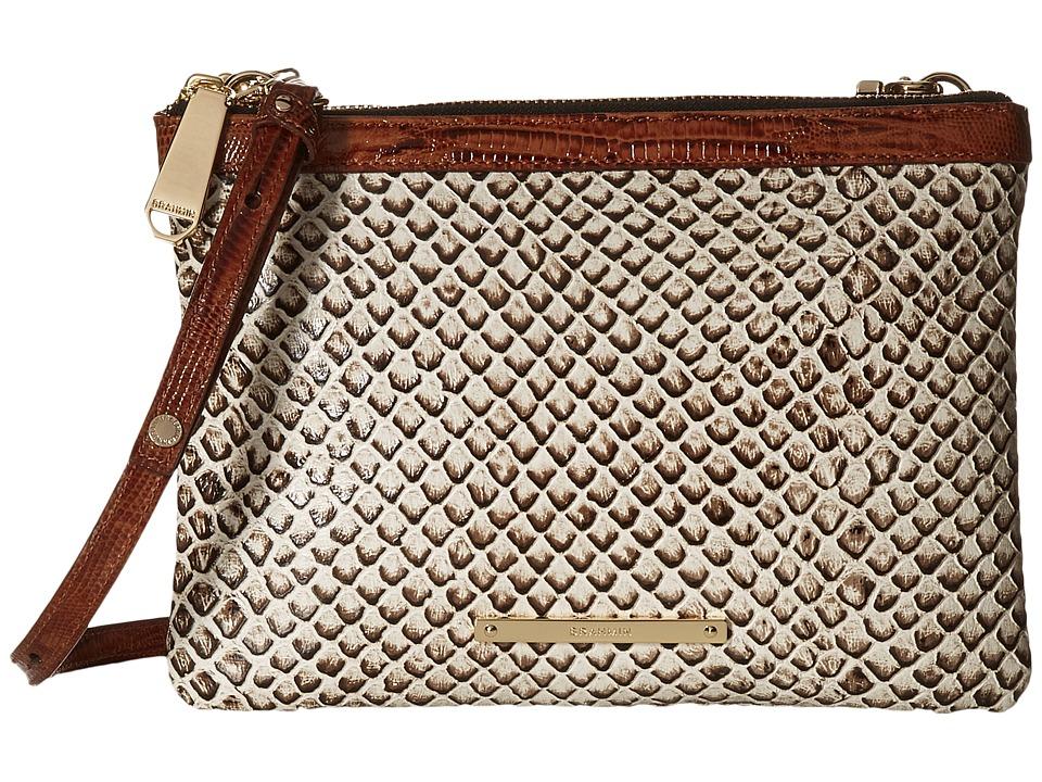 Brahmin Perri Crossbody Onyx Cross Body Handbags