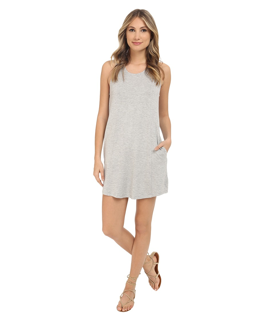 Jack by BB Dakota Bernice French Terry and Eyelet Trim Racerback Dress Light Heathered Grey Womens Dress
