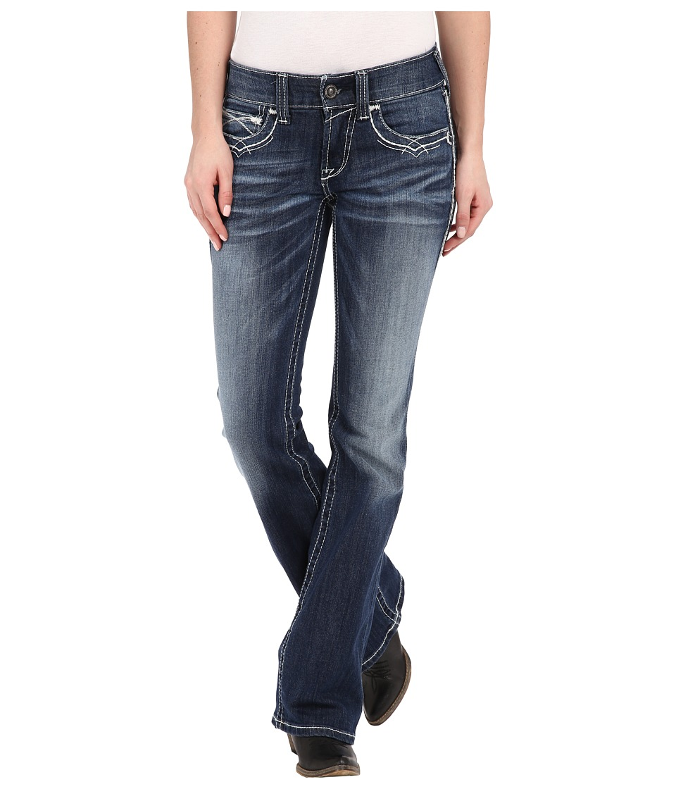 Ariat - R.E.A.L.tm Boot Cut Entwined Jeans in Marine (Mar...