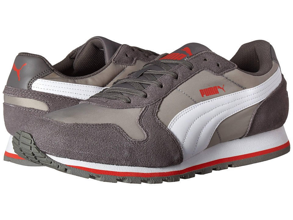 PUMA ST Runner NL Limestone Grey/White Mens Running Shoes