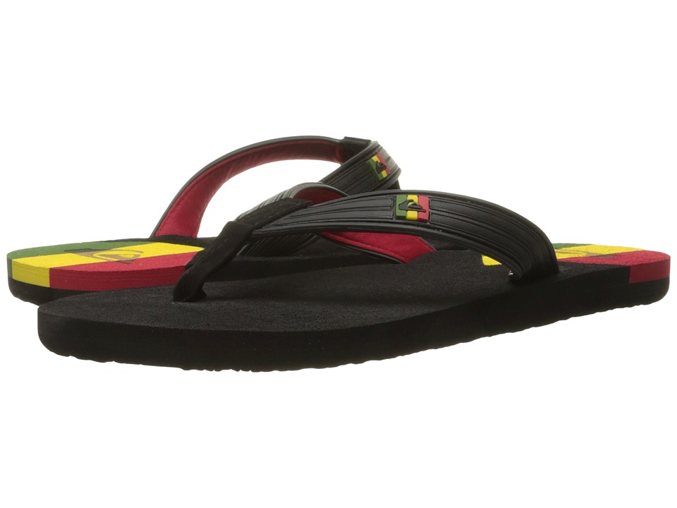 Quiksilver - Molokai New Wave Deluxe (Black/Red/Yellow) Men