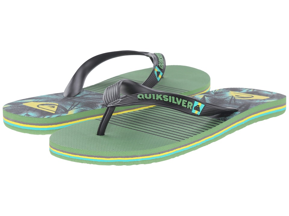 Quiksilver - Molokai Remix (Black/Green/Yellow) Men