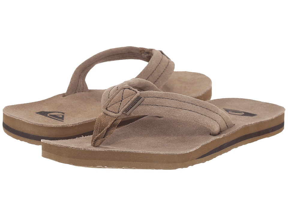Quiksilver - Carver Suede Deluxe (Tan Solid) Men