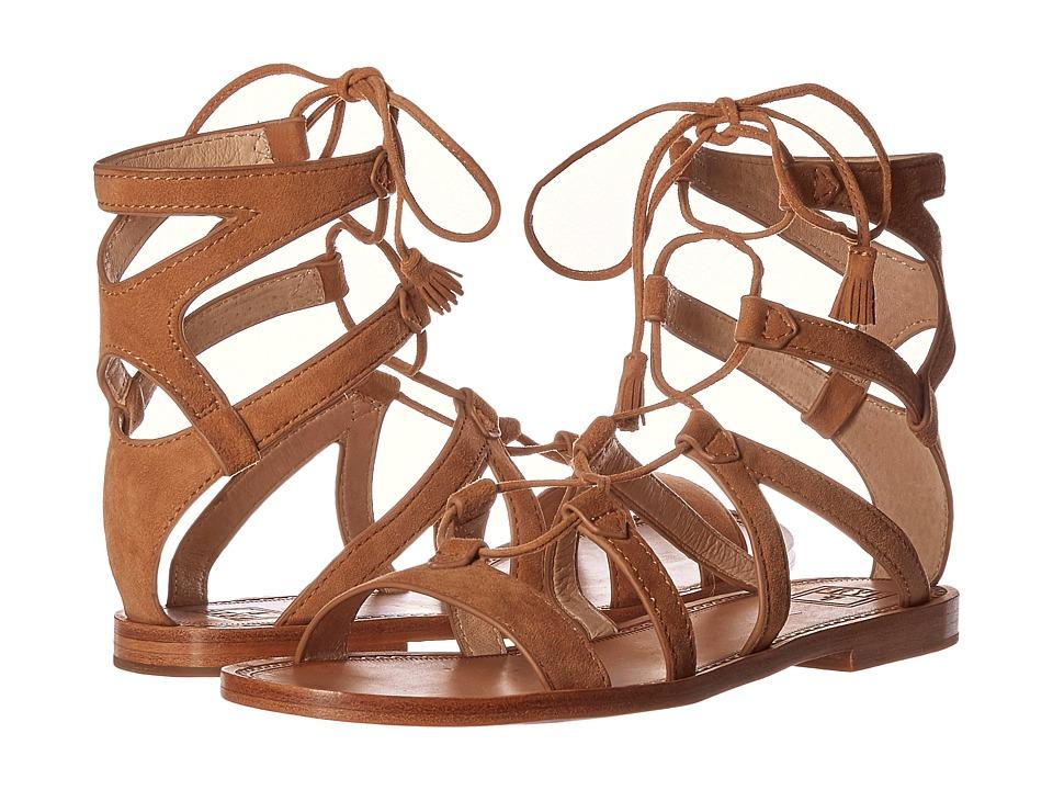 Frye - Ruth Gladiator Short Sandal (Sand Suede) Women