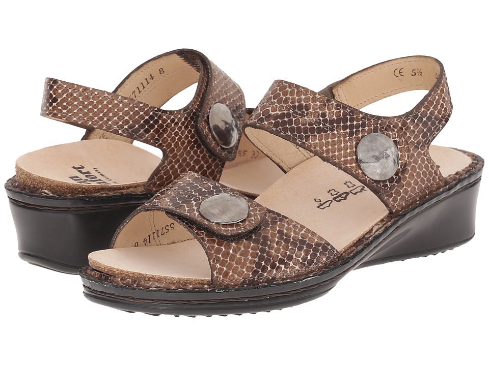 Finn Comfort Alanya Snake Print/Brown Multi Womens Sandals