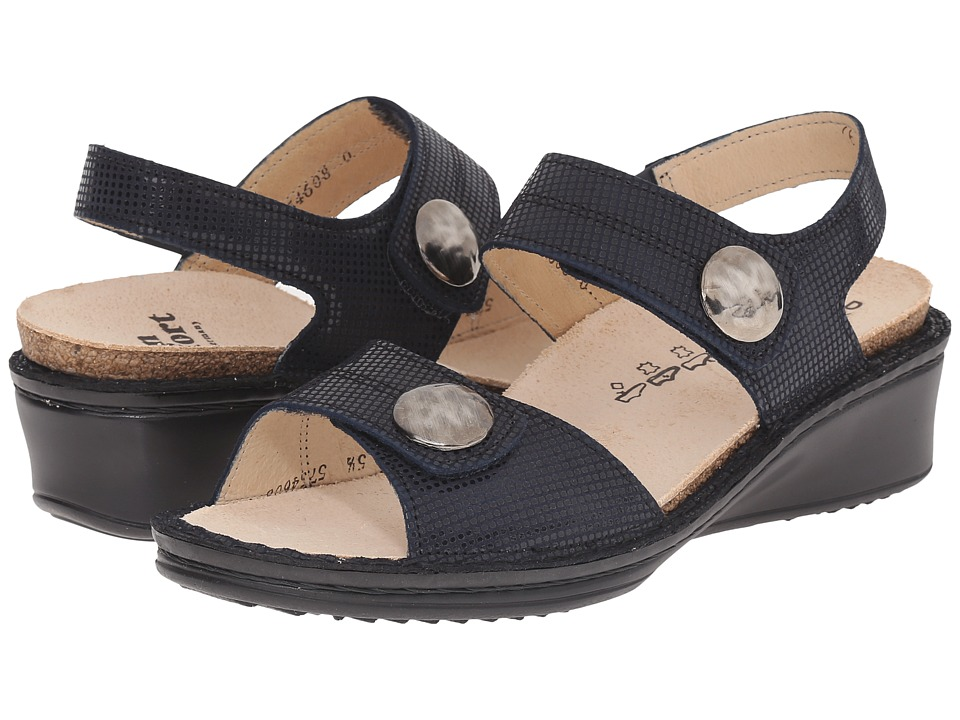 Finn Comfort Alanya Navy Womens Sandals
