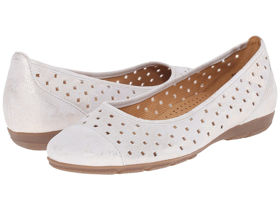 Gabor Gabor 44.169 Puder Caruso Metallic Womens Flat Shoes