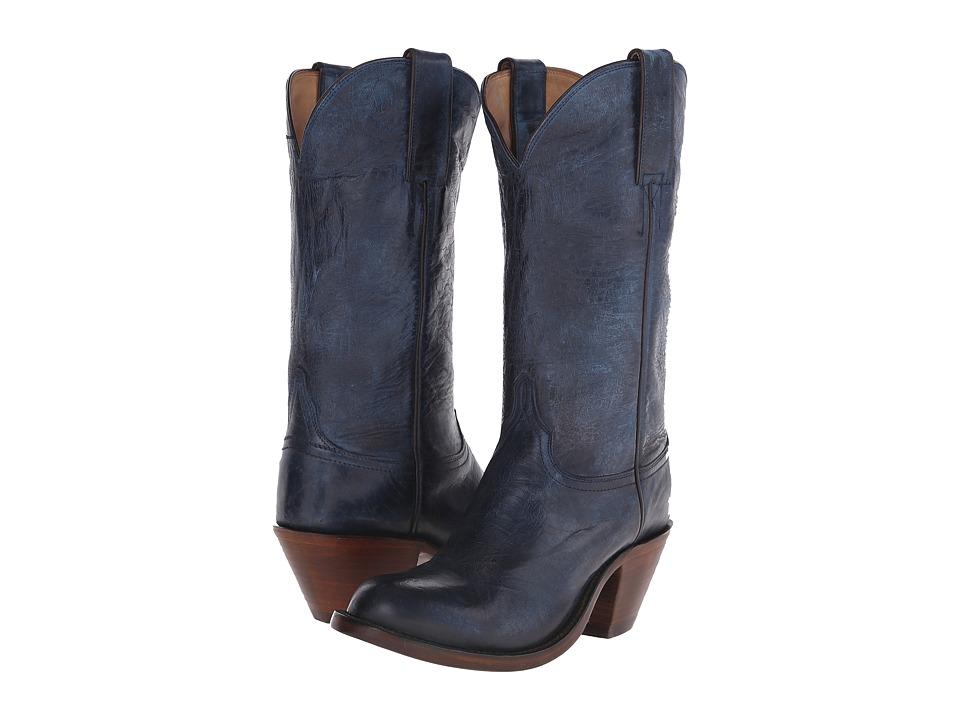 Lucchese Britton Ocean Blue Cowboy Boots