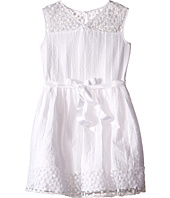 Us Angels - Novelty Jacquard Drop Shoulder Illusion Dress w/ Belt & Full Skirt (Big Kids)