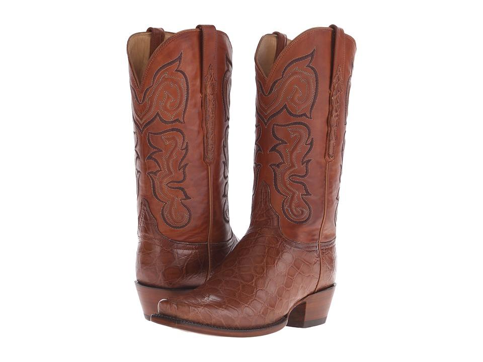 Lucchese L4177 (Cognac Giant Alligator) Cowboy Boots