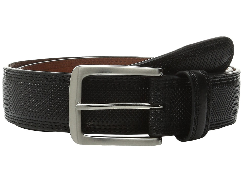 Johnston amp Murphy All Over Perfed Belt Black Mens Belts