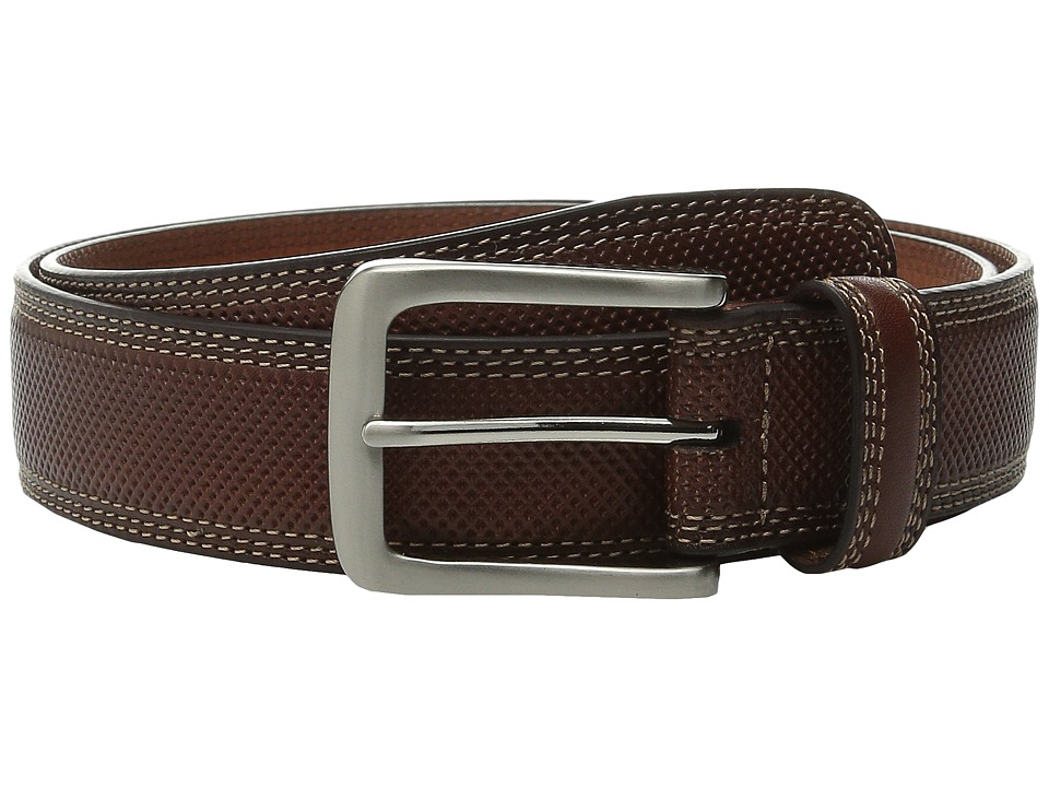 Johnston amp Murphy All Over Perfed Belt Tan Mens Belts