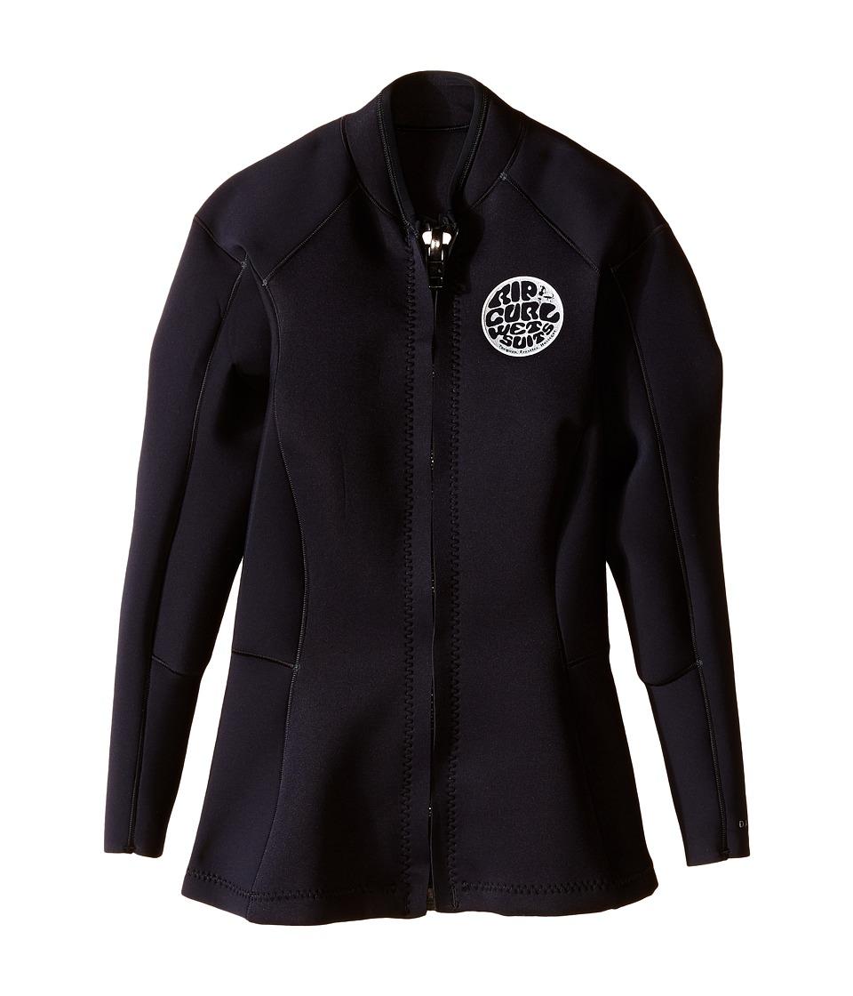 Rip Curl Dawn Patrol Long Sleeve Jacket Black Womens Swimwear