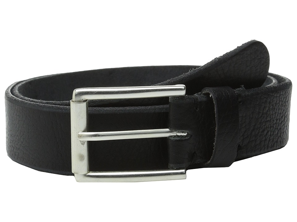 Will Leather Goods 35mm Skiver Black Mens Belts