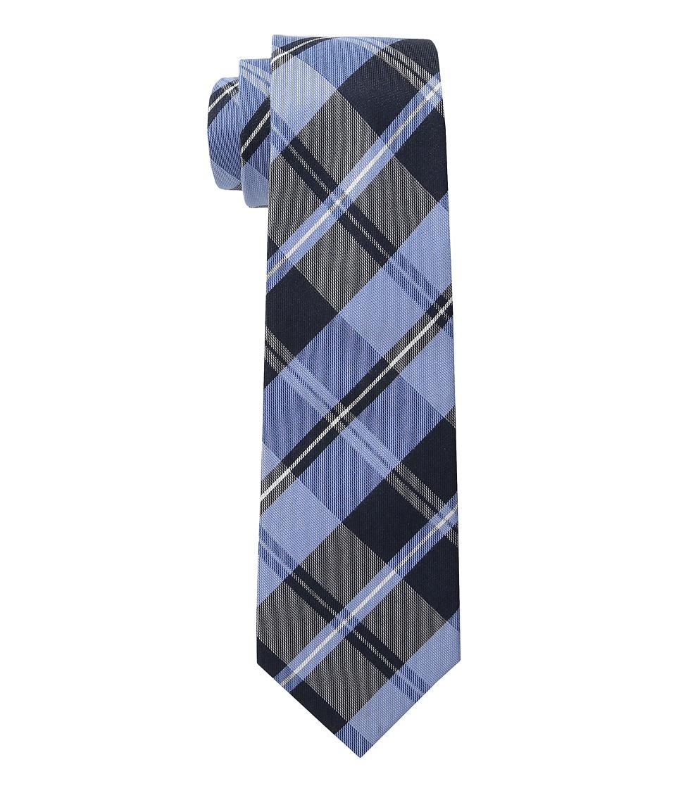 Cufflinks Inc. Plaid Silk Cotton Tie Blue Ties