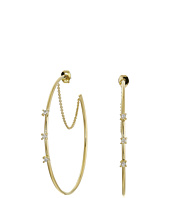 Vince Camuto - Triple Stone Delicate Hoop Earrings